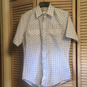 Wrangler Wrancher, Short Sleeved Shirt, Medium